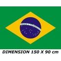 drapeau brésilien neuf gratuit 150x90 cm