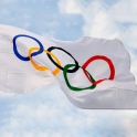 drapeau jeux olympiques neuf 150 x 90 cm gratuit