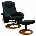 fauteuil massant électrique noire